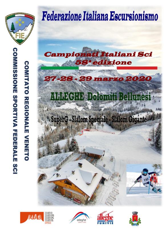 Locandina Campionati Italiani Sci Federazione Italiana Escursionismo 2020