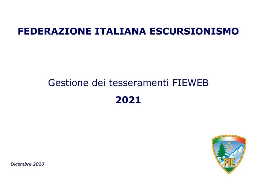 Manuale Tesseramento FIEWEB 2021